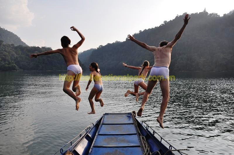 The activities in Ba Be national park that we offer