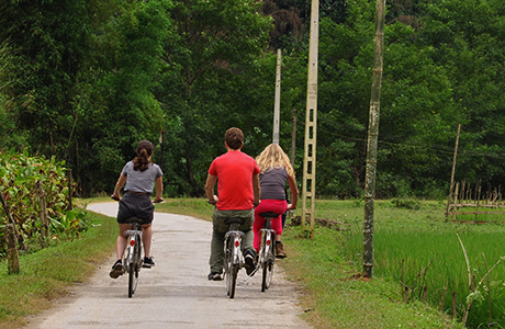 Cycling in Ba Be National Park, Mr Linh's homestay